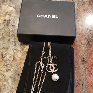 Chanel CC pearl  Collier necklace